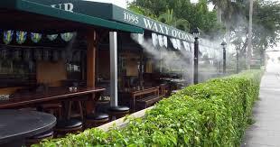 Lựa chọn vị trí lắp đặt hệ thống phun sương quán cà phê thích hợp