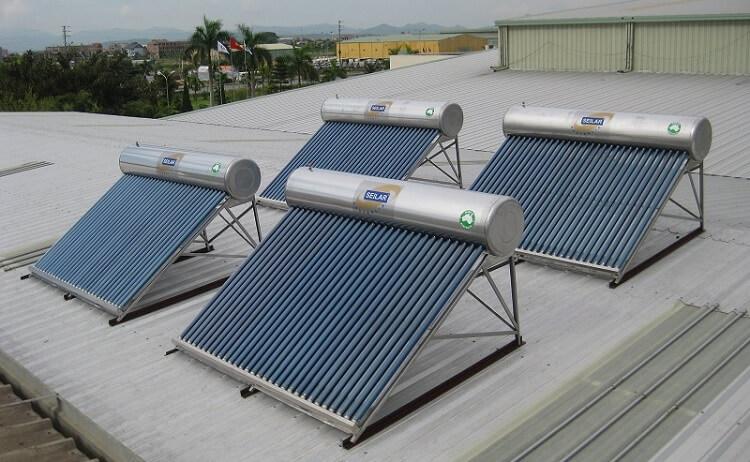 Dung tích bồn chứa của máy nước nóng năng lượng mặt trời