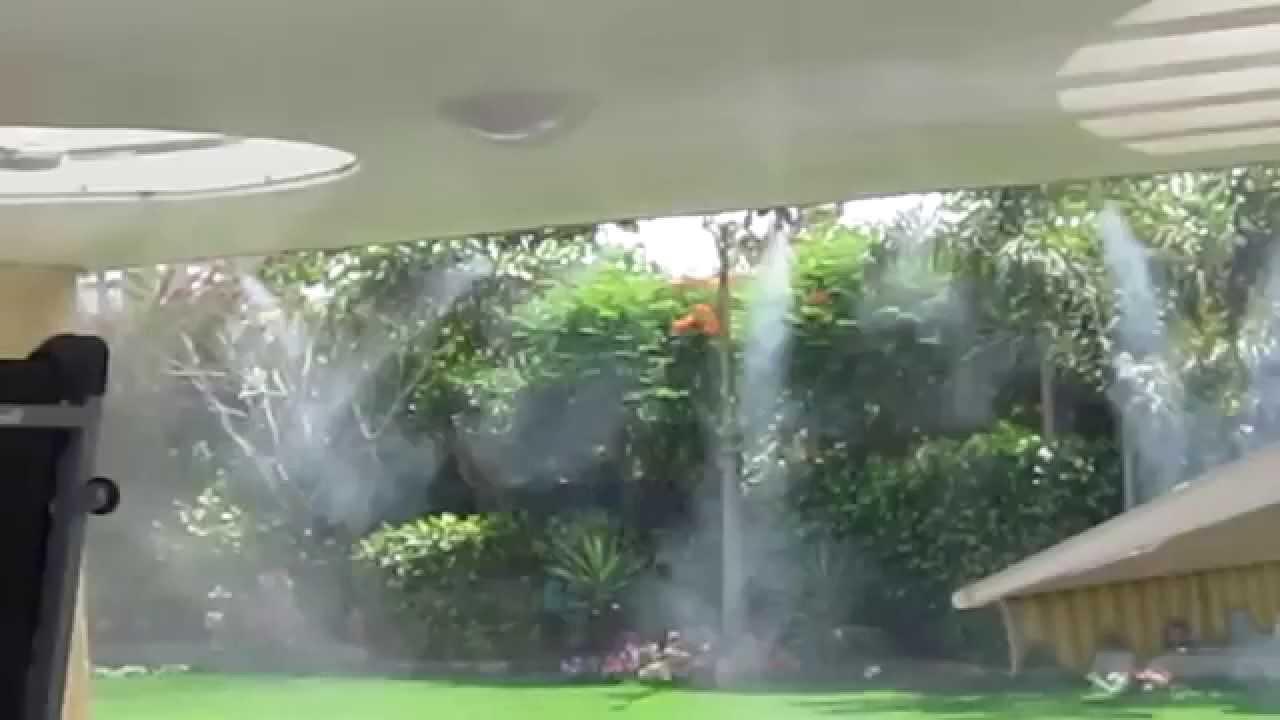 Sử dụng hệ thống phun sương